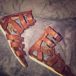 Brown gladiator sandals